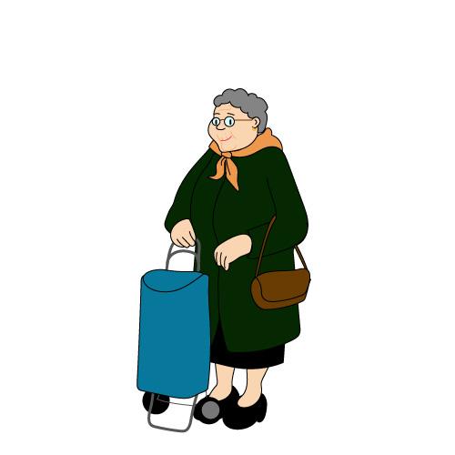 Dessin grand-mère